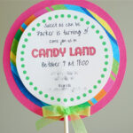 Free Printable Candyland Invitation Templates    Than I Throughout Blank Candyland Template
