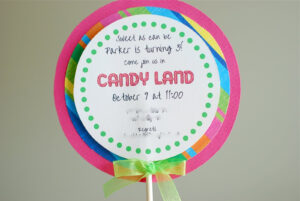 Free Printable Candyland Invitation Templates |  Than I throughout Blank Candyland Template