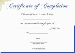 Free Printable Certificate Of Completion | Mult-Igry intended for Premarital Counseling Certificate Of Completion Template