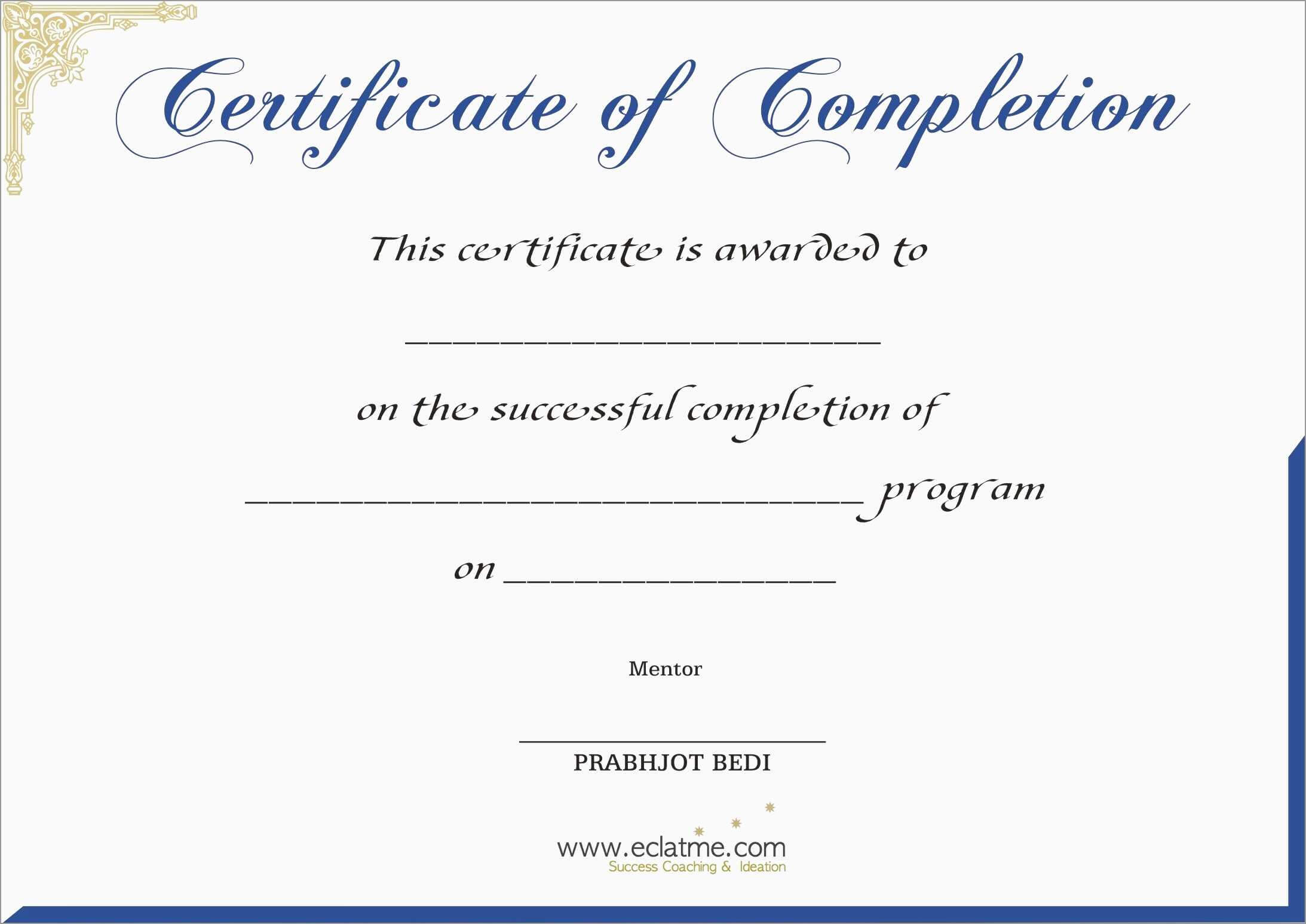 Free Printable Certificate Of Completion | Mult Igry Intended For Premarital Counseling Certificate Of Completion Template