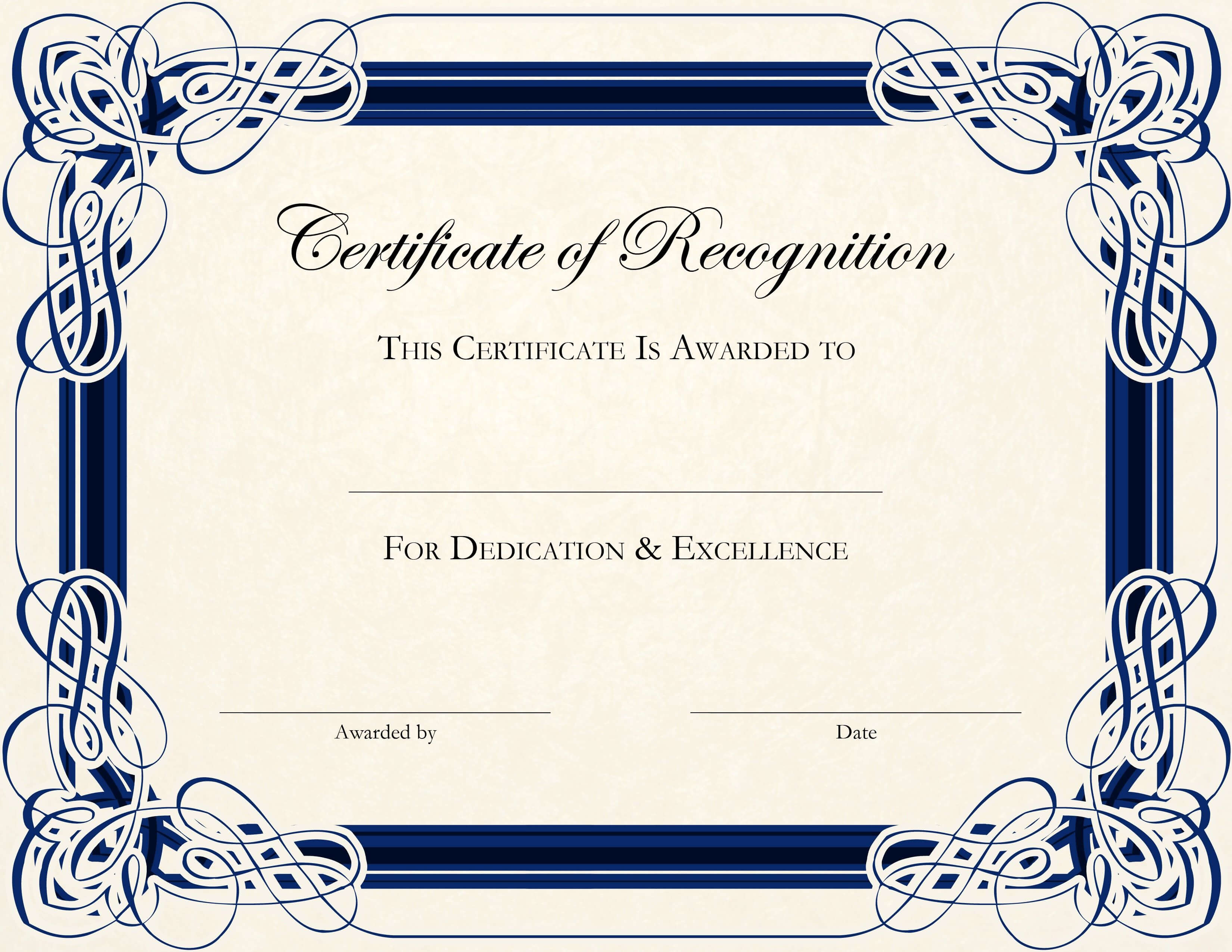 Free Printable Certificate Templates For Teachers Pertaining To Generic Certificate Template