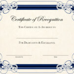 Free Printable Certificate Templates For Teachers pertaining to Template For Recognition Certificate