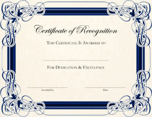 Free Printable Certificate Templates For Teachers Within Template For Certificate Of Appreciation In Microsoft Word