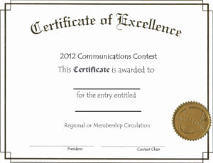 Free Printable Certificate Templates Or Free Editable throughout Free Certificate Of Excellence Template