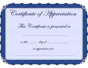 Free Printable Certificates Certificate Of Appreciation regarding Certificates Of Appreciation Template