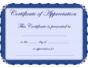 Free Printable Certificates Certificate Of Appreciation with Certificate Of Recognition Word Template