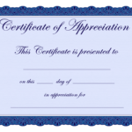 Free Printable Certificates Certificate Of Appreciation Within Certificate Of Appreciation Template Doc