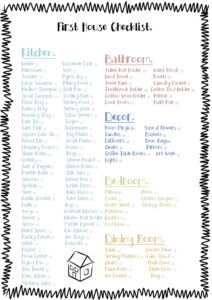 Free Printable Check List For The Essentials To Buy For A within Moving House Cards Template Free