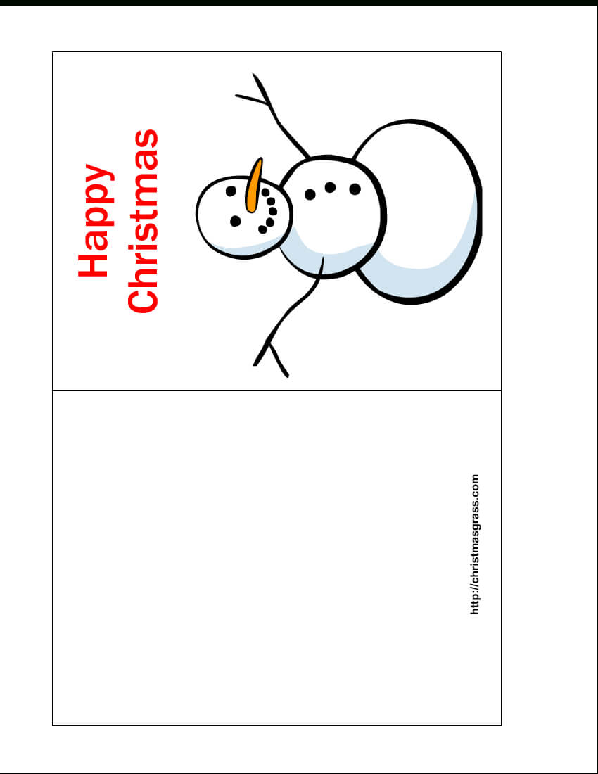 Free Printable Christmas Cards | Free Printable Happy In Printable Holiday Card Templates