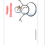 Free Printable Christmas Cards   Free Printable Happy Throughout Template For Cards To Print Free