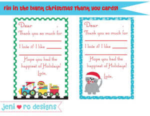 Free Printable Christmas Note Cards | Mult-Igry for Christmas Thank You Card Templates Free
