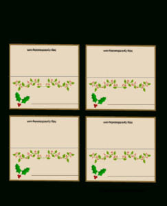 Free Printable Christmas Place-Cards for Christmas Table Place Cards Template