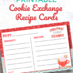 Free Printable Cookie Exchange Recipe Cards | Oh My Pertaining To Cookie Exchange Recipe Card Template