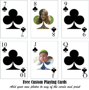 Free Printable Custom Playing Cards | Add Your Photo And/or Text intended for Custom Playing Card Template