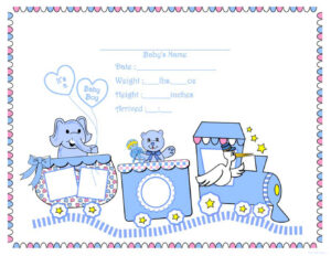 Free Printable, Digital, Scrapbook Template Pages, Sports inside Girl Birth Certificate Template