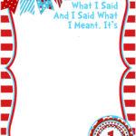 Free Printable Dr Seuss Birthday   Free Printable For Dr Seuss Birthday Card Template