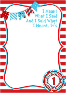 Free Printable Dr Seuss Birthday | Free Printable for Dr Seuss Birthday Card Template