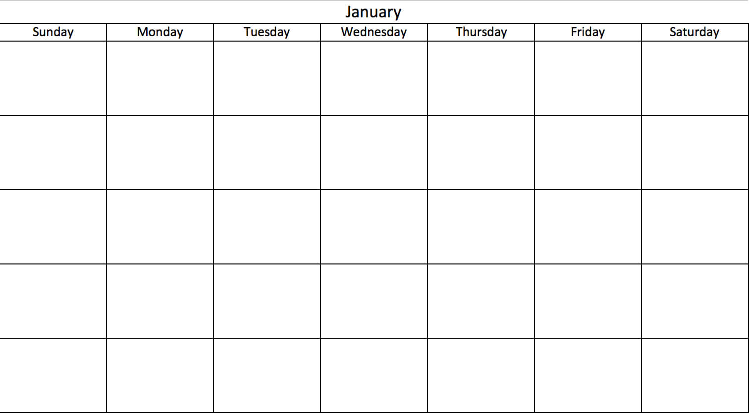 Free, Printable Excel Calendar Templates For 2019 & On Intended For Blank One Month Calendar Template
