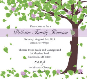 Free Printable Family Reunion Invitations | Mult-Igry inside Reunion Invitation Card Templates