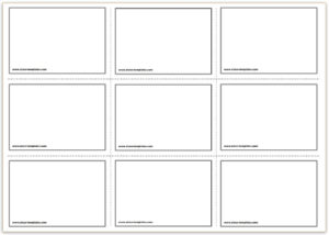 Free Printable Flash Cards Template for Blank Index Card Template