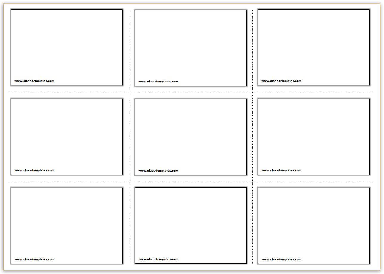 Free Printable Flash Cards Template For Cue Card Template Word
