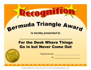 Free Printable Funny Awards | Mult-Igry pertaining to Funny Certificates For Employees Templates