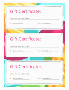 Free Printable Gift Certificate Templates Online Vouchers In Christmas Gift Certificate Template Free Download