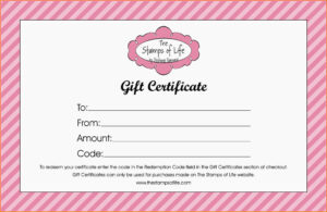 Free Printable Gift Certificates Online For Birthday in Free Photography Gift Certificate Template