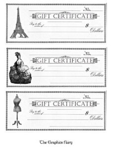 Free Printable – Gift Certificates | Projects To Try | Free with Black And White Gift Certificate Template Free