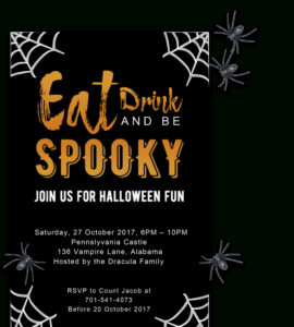 Free Printable Halloween Party Invitations 2018 ✅ [ Template] for Free Halloween Templates For Word