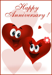 Free Printable Happy Anniversary Greeting Card   Anniversary within Anniversary Card Template Word
