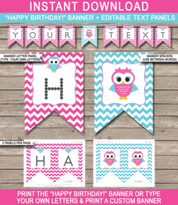 Free Printable Happy Birthday Banner Templates – Page 2 intended for Free Happy Birthday Banner Templates Download