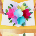 Free Printable Happy Birthday Card With Pop Up Bouquet – A Throughout Printable Pop Up Card Templates Free