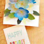 Free Printable Happy Birthday Card With Pop Up Bouquet – A With Regard To Printable Pop Up Card Templates Free
