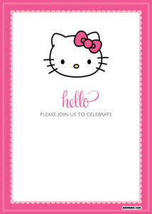 Free Printable Hello Kitty Birthday Invitations – Bagvania inside Hello Kitty Birthday Banner Template Free