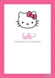 Free Printable Hello Kitty Birthday Invitations – Bagvania regarding Hello Kitty Birthday Card Template Free