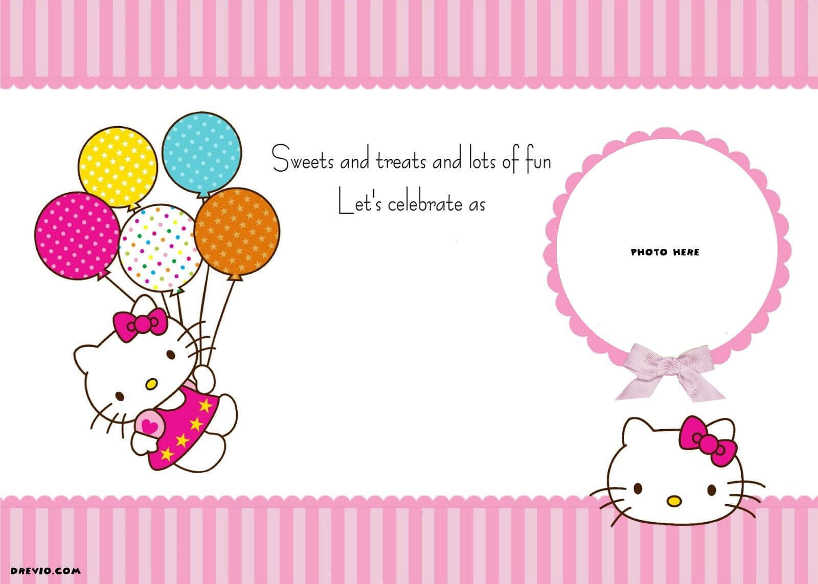 Free Printable Hello Kitty Birthday Party | Mga Pwedeng Gawin With Regard To Hello Kitty Banner Template
