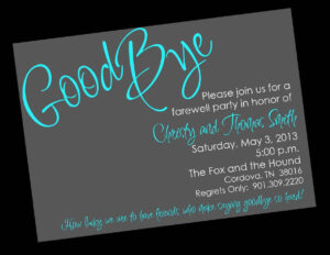 Free Printable Invitation Templates Going Away Party Intended For Farewell Invitation Card Template
