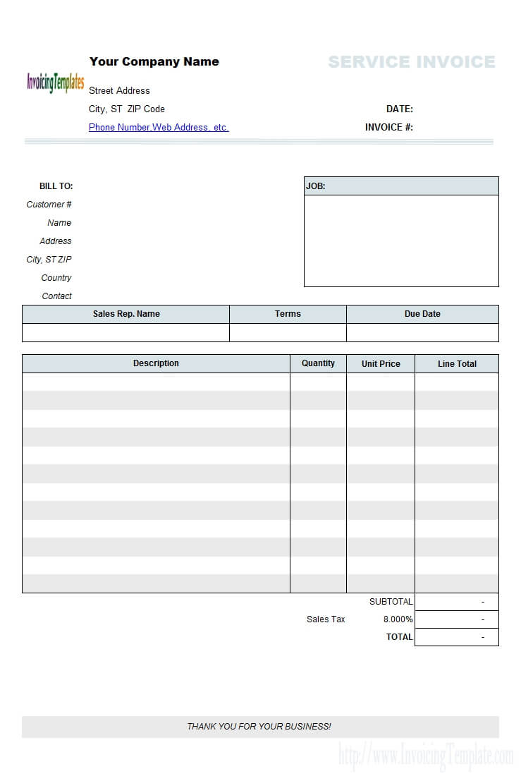 Free Printable Invoices For Contractors 1099 Invoice With Free Invoice Template Word Mac