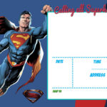 Free Printable Justice League Invitation Template | Liga De inside Superman Birthday Card Template