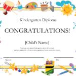 Free Printable Kindergarten Graduation Certificate Template Throughout Free Printable Certificate Templates For Kids