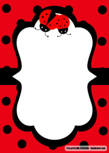 Free Printable Ladybug Baby Shower Invitations Templates With Blank Ladybug Template