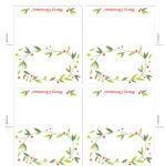 Free Printable Lemon Squeezy: Day 12: Place Cards inside Table Name Cards Template Free