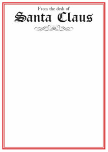 Free Printable Letter From Santa Template Word Collection for Blank Letter From Santa Template