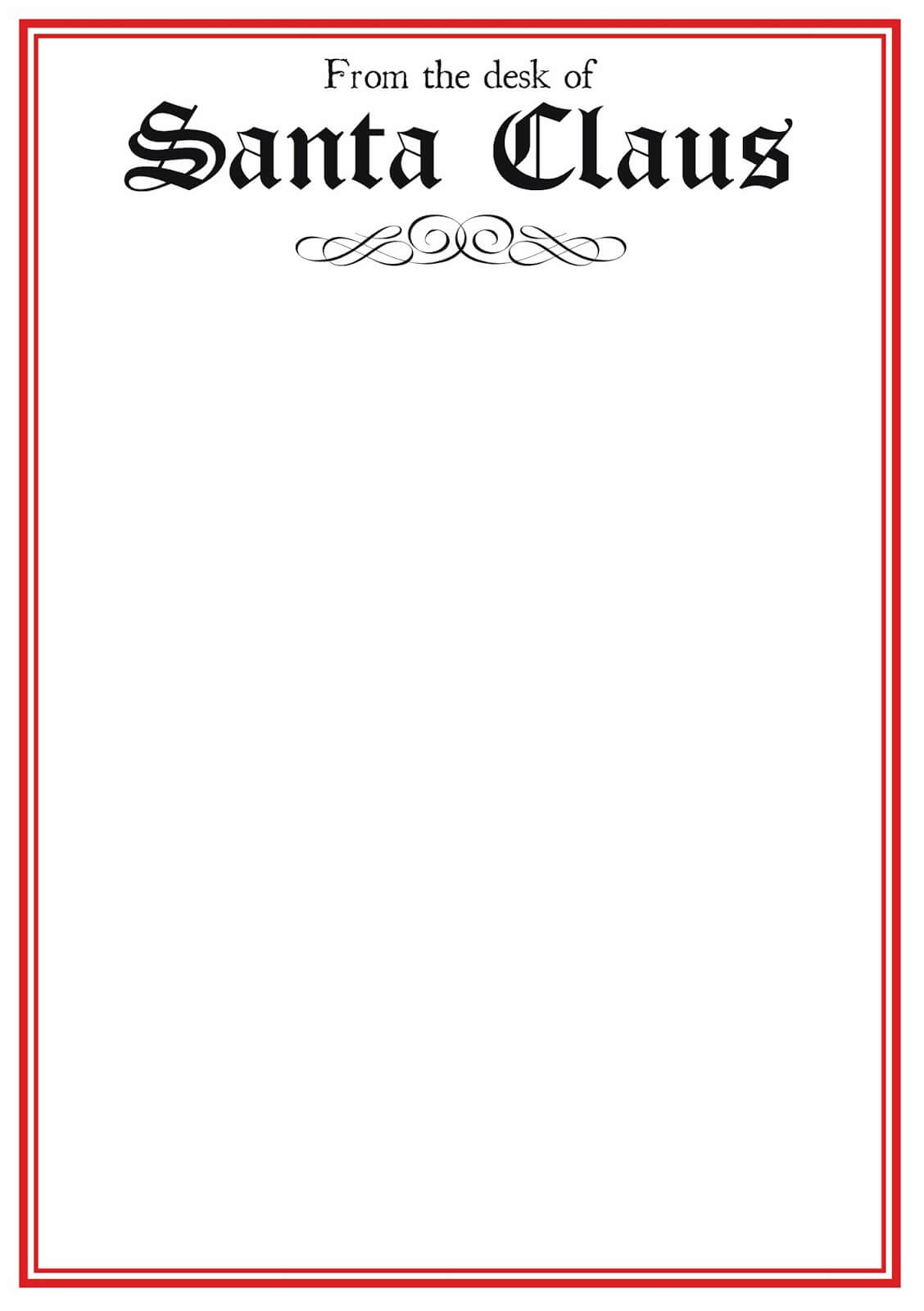 Free Printable Letter From Santa Word Template Samples Intended For Santa Letter Template Word