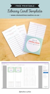 Free Printable Library Cards | Printables | The Best Within Library Catalog Card Template