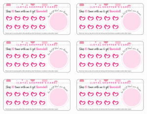 Free Printable Loyalty Card Template And Pure Romance with regard to Customer Loyalty Card Template Free