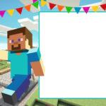 Free Printable Minecraft Birthday Invitation Template With Minecraft Birthday Card Template