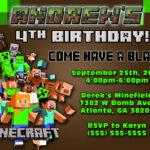 Free Printable Minecraft Birthday Party Invitations With Regard To Minecraft Birthday Card Template