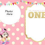 Free Printable Minnie Mouse 1St Invitation | Talli With Minnie Mouse Card Templates